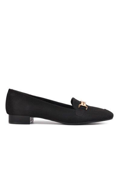 Maje 346 Siyah Süet Kadın Loafer Ayakkabı