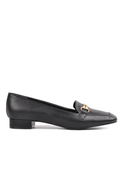 Maje 346 Siyah Kadın Loafer Ayakkabı