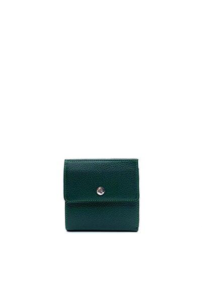 Eminsa Yeşil Deri Mini Kadın Cüzdan