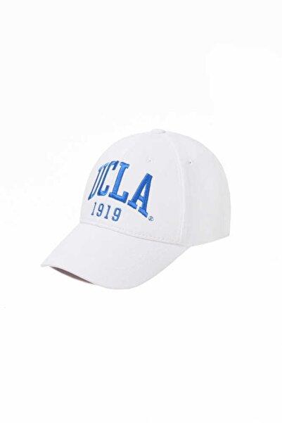 UCLA Ballard Beyaz Mavi Nakışlı Şapka