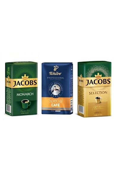 Jacobs Muhteşem 3 Lü Kahve Seti 250gr Selection+ 250gr Monarch +250gr Thcibo Special Cafe