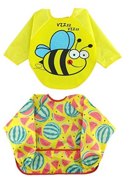 ALİSS BABY 6-24 Ay Kollu Mama Önlüğü Karpuz Arı