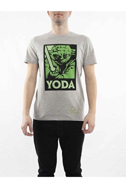 MARVEL Star Wars Yoda Baskılı Gri T-shirt-lisanslı