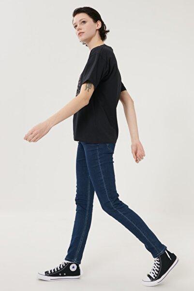 Lee Kadın Koyu Mavi Scarlett Skinny Fit Denim Esnek Jean Kot Pantolon