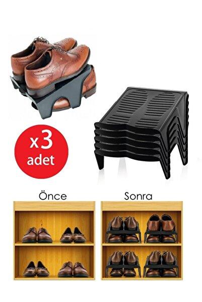 Meleni Home 3'Lü Çiftli Ayakkabı Düzenleyici Rampa