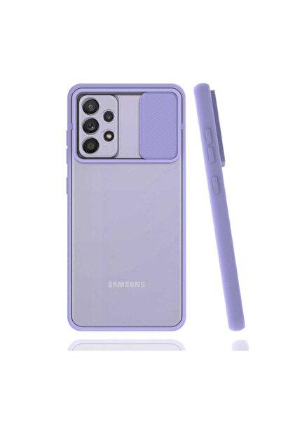 Samsung Cover Station Galaxy A52 Sürgülü Kılıf Kamera Korumalı Mat Parmak Izi Bırakmayan Darbe Emici Kapak