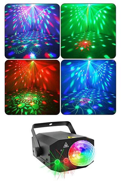 xolo Rgb Disko Topu Projektör Lazer 16 In 1 Disko Parti Sahne Işığı Doğum Günü Parti Özel Gün