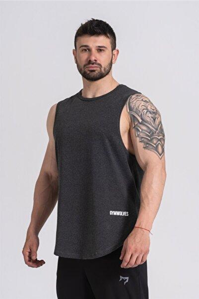 Gymwolves Erkek Kolsuz T-shirt   Erkek Spor T-shirt   Workout Tanktop   Never Give Up  
