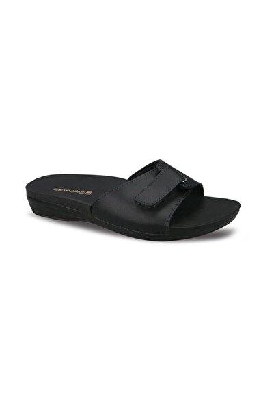 Ceyo Marina-1 Siyah Ortapedik Bayan Terlik & Sandalet