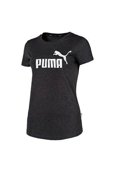 Puma ESS LOGO TEE Gri Kadın T-Shirt 100415226