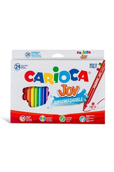 CARIOCA 40532 Joy Süper Yıkanabilir Keçeli Boya 24'lü
