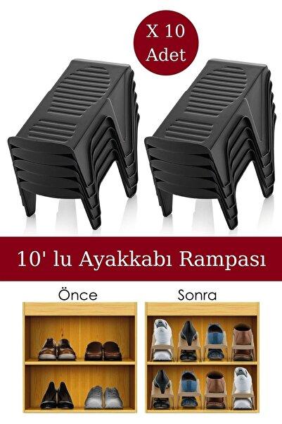 Nandy Home 10' Lu Ayakkabı Rampası Siyah