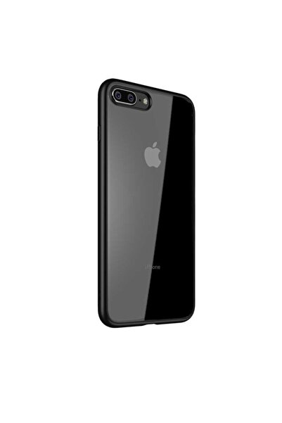 Apple Iphone 7 Plus Uyumlu Kılıf Kenarları Renkli Yumuşak Şeffaf Silikon