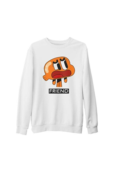 Lord T-Shirt Unisex Beyaz Best Friends Friend Kalın Sweatshirt