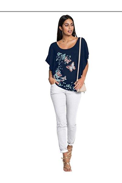 Kübra Tekstil Kadın Yarasa Kol Tişört