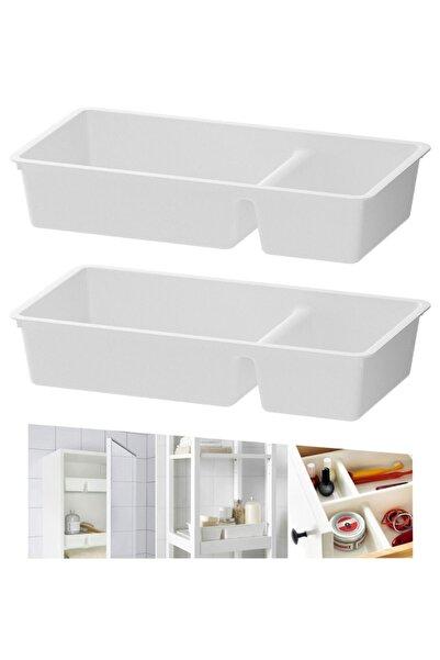 IKEA Bıllıngen ( 2 Adet ) Bölmeli Çekmece Içi Düzenleyici Beyaz