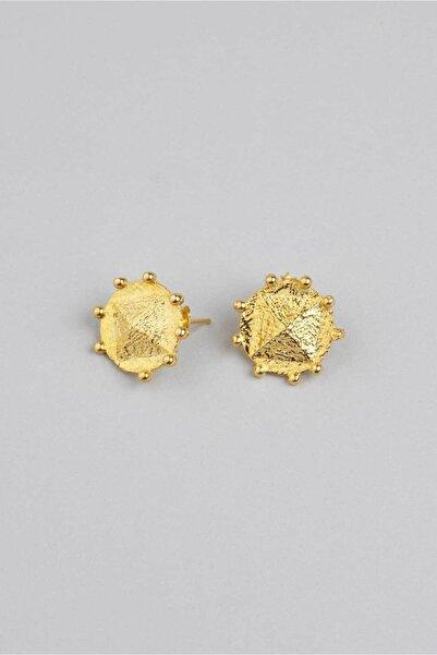 So CHIC... 18 Ayar Sarı Altın Kaplama Gümüş Antik Küpe