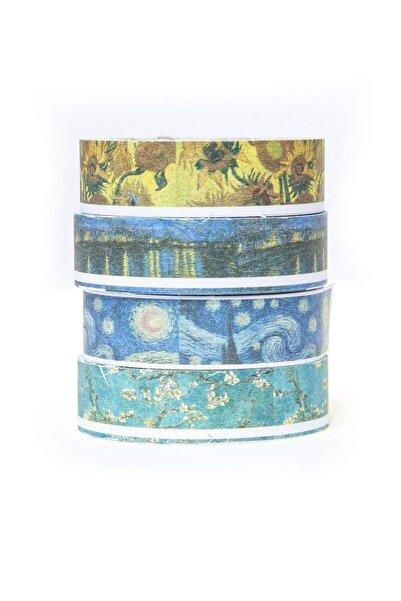 PASİFİK HOME Van Gogh Renkli Desenli Bant 5 M 4'lü Set