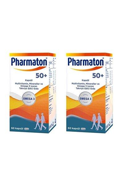 Pharmaton Multiv,tamin, Mineraller Ve Omega 3 Içeren Takviye Edici Gıda 50 Plus 60 Kapsül 2 'li Paket