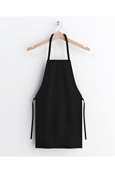 KURUMSAL AMBALAJ Siyah Gabardin Kumaş Mutfak Aşçı Önlüğü