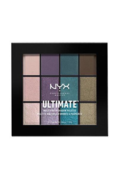 NYX Professional Makeup Göz Farı Paleti - Ultımate Multı Finish Shadow Palette Smoke Screen 800897096489