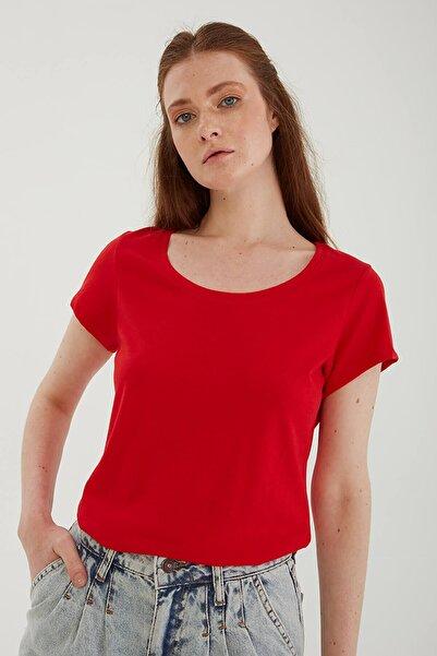Fashion Friends Havuz Yaka T-shirt Kırmızı