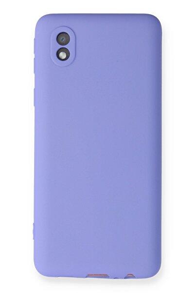 Samsung Galaxy A01 Core Kılıf Soft Yüzeyli Yıkanabilir Silikon Arka Kapak - Lila