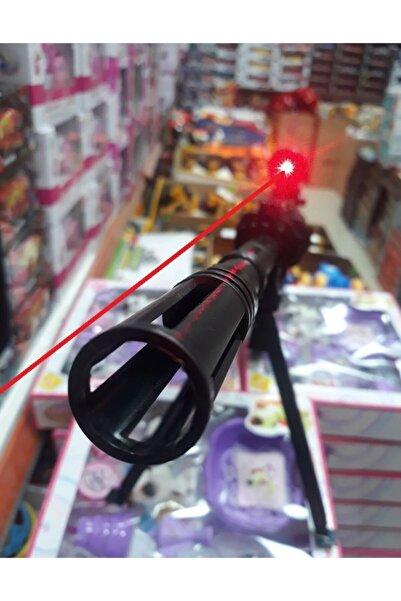 SNIPER Lazerli Mermi Atan Tüfek 82cm Dipçikli Silah Şarjörlü