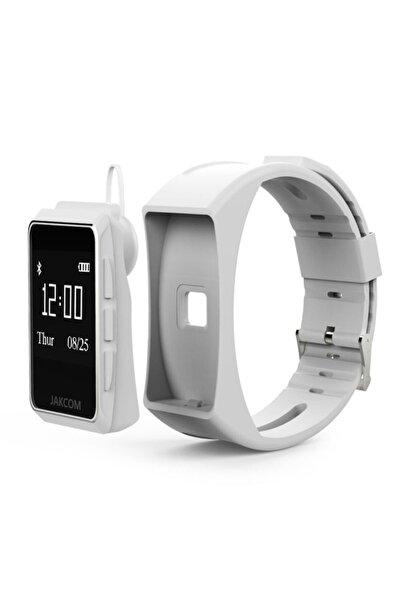 jakcom Beyaz B3 Android Ios Oled Ekran Bluetooth Kulaklıklı Akıllı Bileklik