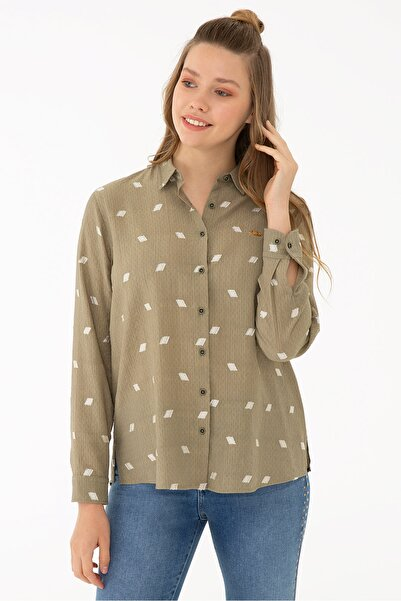 U.S. Polo Assn. Yesıl Kadın Gömlek