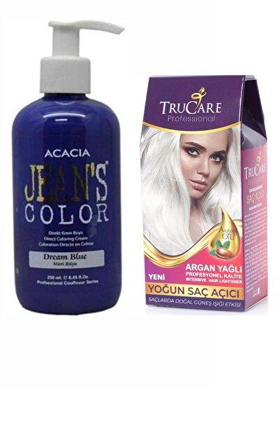Trucare Saç Açıcı Ve Acacia Jeans Color Saç Boyası Mavi Rüya 250ml