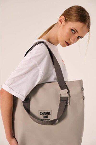 Shule Bags Patlı Kadın Omuz Shopper Çanta Vicky Gri