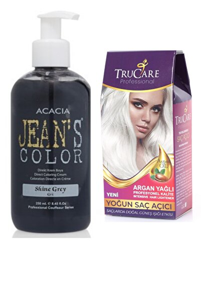 Trucare Saç Açıcı Ve Acacia Jeans Color Saç Boyası Gri 250 ml