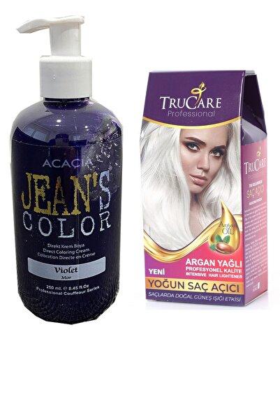 Trucare Saç Açıcı Ve Acacia Jeans Color Saç Boyası Mor 250 ml