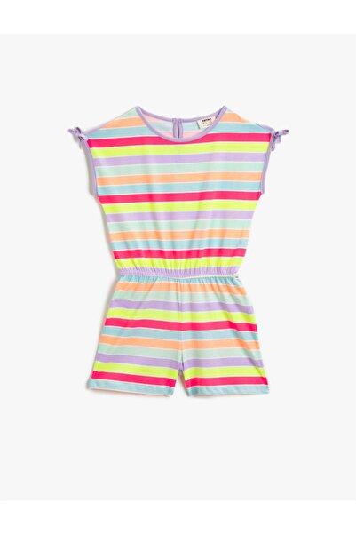 Koton Kız Çocuk Çizgili Elbise 1YKG87877OK