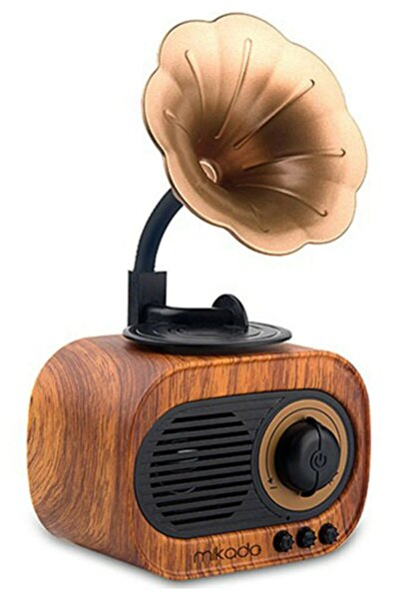 Mikado Mn-s19 Ahşap Klasik Retro Gramofon Bluetooth Müzik Kutusu