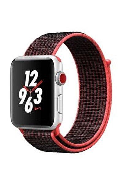 Apple Watch 1-2-3-4-5 Serisi Uyumlu 42 mm 44 mm Spor Loop Kordon
