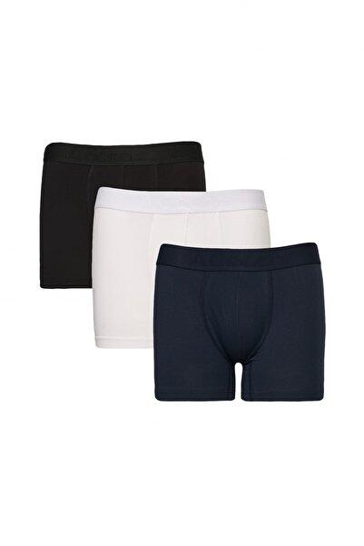 AC&Co / Altınyıldız Classics Erkek Beyaz-lacivert-siyah 3lü Boxer Paketi