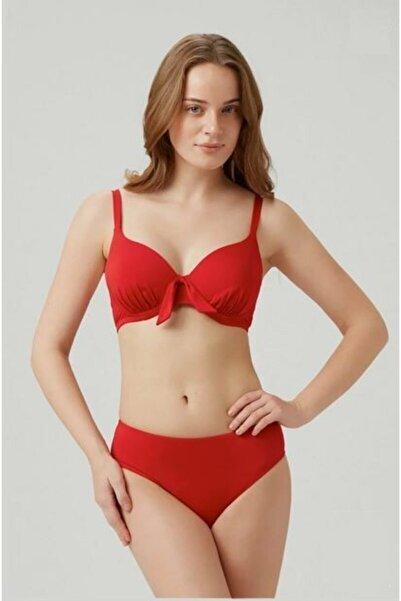 Kom Çıkarılabilir Push Up Destekli Viol Düz Renk Toparlayıcı Bikini