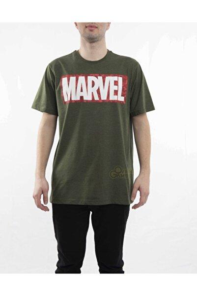 MARVEL Logo Haki T-shirt-lisanslı
