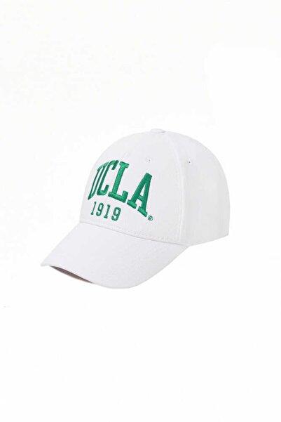 UCLA Ballard Beyaz Açık Yeşil Nakışlı Şapka