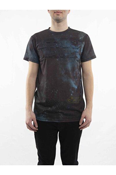 MARVEL Star Wars Kabartma Yazılı Siyah T-shirt-lisanslı