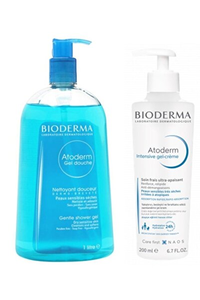 Bioderma Atoderm Temizleme Ve Nemlendirme Set 3 / Atopiye Eğilimli Ciltler Için Bakım Seti