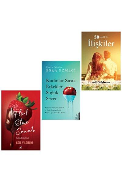 Karakarga Yayınları Flört Etme Sanatı - Kadınlar Sıcak Erkekler Soğuk Sever - 50 Maddede İlişkiler 3 Kitap