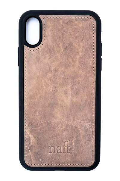 naft Gerçek Deri Telefon Kılıfı - Iphone Xs Max - Gri