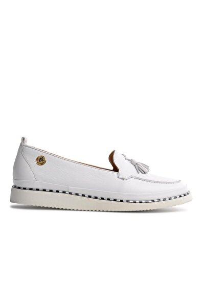 Pierre Cardin 50066 Beyaz Kadın Loafer Ayakkabı