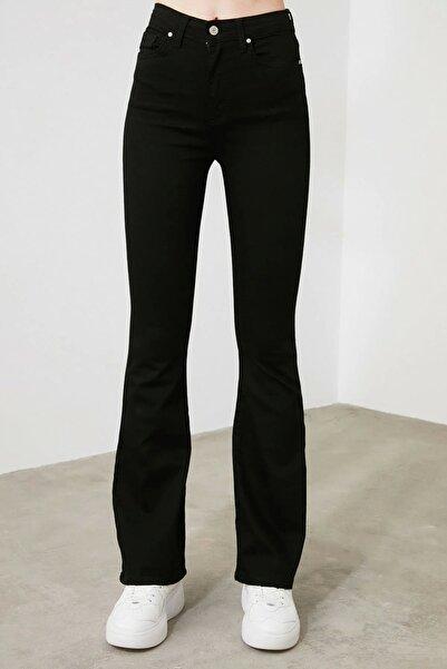 Harmony Ispanyol Paça Flare S.i.m.s.i.y.a.h Renk Solmaz Siyah Jeans (toparlayıcı)