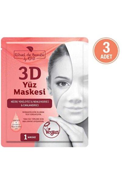 Rituel De Beaute Hücre Yenileyici Ve Canlandırıcı 3d Maske 3'lü Özel Set