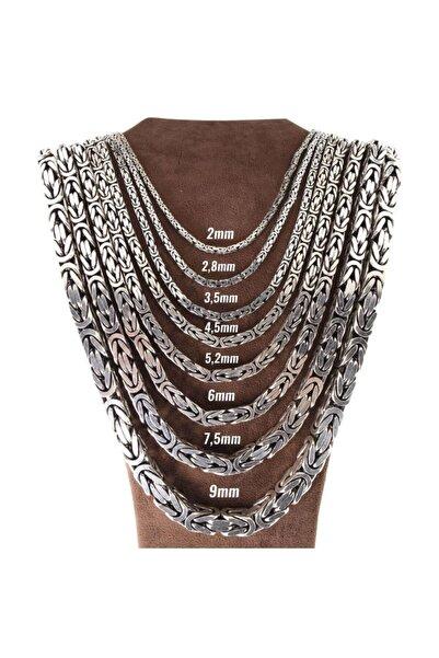 ENCİLİ SİLVER 925 Ayar Gümüş 55 Cm Kral Zincir Yuvarlak Model Kolye