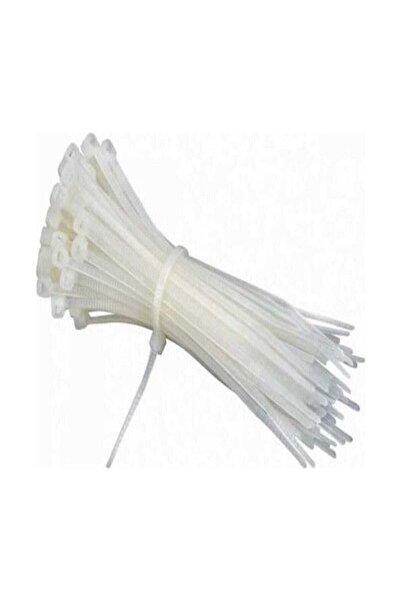 Meşem Beyaz Cırtlı Plastik Kelepçe Kablobağı 3,6x200 100 Adet